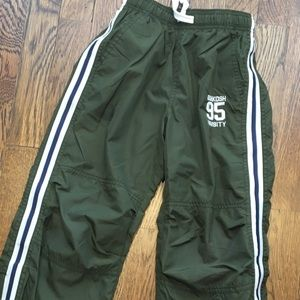 OshGosh B'Gosh dark green lined wind pants. 6
